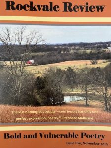 Rockvale Review Issue 5 November 2019 Tennessee landscape farmland and barn and arc of lake and leafless trees