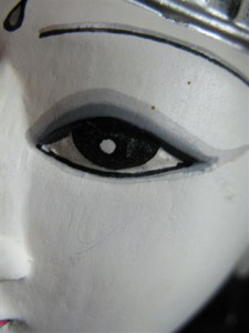 Portion of Doll, eye, black and white