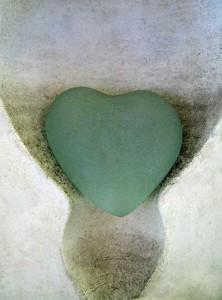 Blue Heart Glass Robyn Beattie
