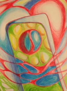 tania's catalyst doodle, heart door ajar