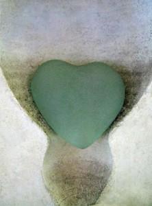 Blue Heart Glass Robyn Beattie copy