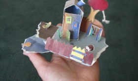 Little Paper House scene