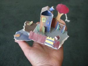 Little Paper House scene