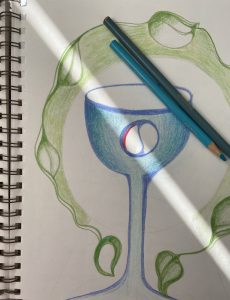 blue chalice vine encircled